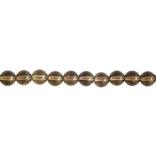 Smoky Quartz Line - 8 mm Bead