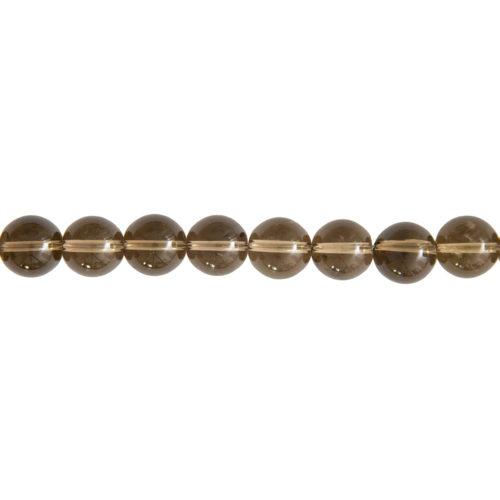 Smoky Quartz Line - 12 mm Bead