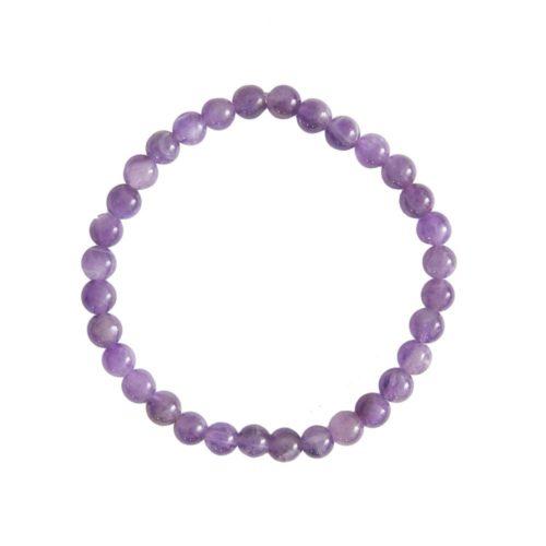 Amethyst Bracelet - 6 mm Bead