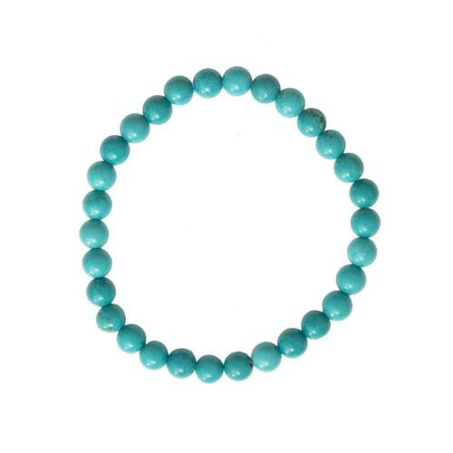 Turquoise Bracelet - 6 mm Bead