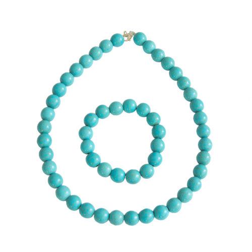 Blue Howlite Gift Set - 12 mm Bead
