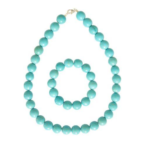 Blue Howlite Gift Set - 14 mm Bead