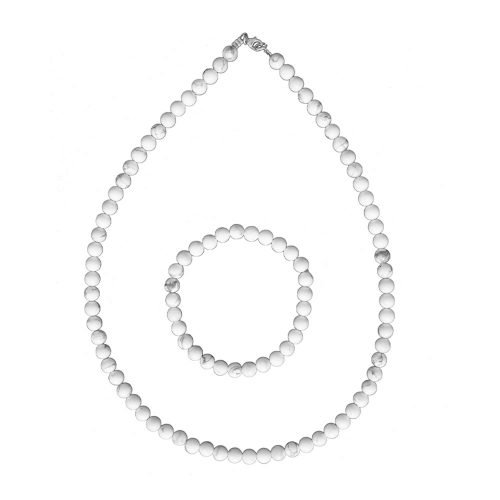 Howlite Gift Set - 6 mm Bead