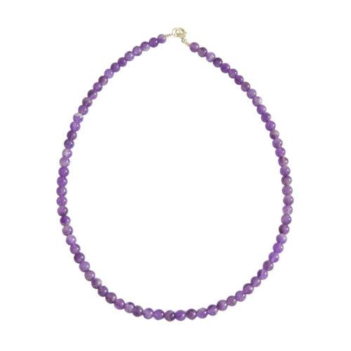 Amethyst Necklace - 6 mm Bead