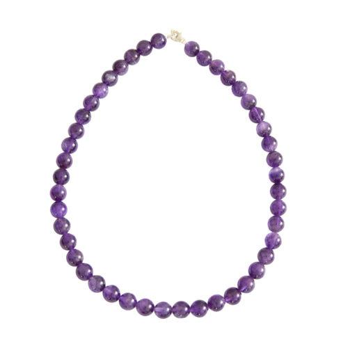 Amethyst Necklace - 10 mm Bead