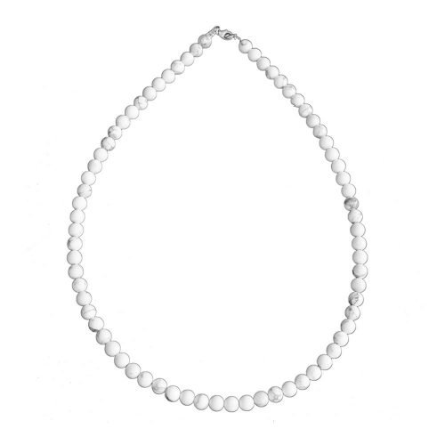 Howlite Necklace - 6 mm Bead