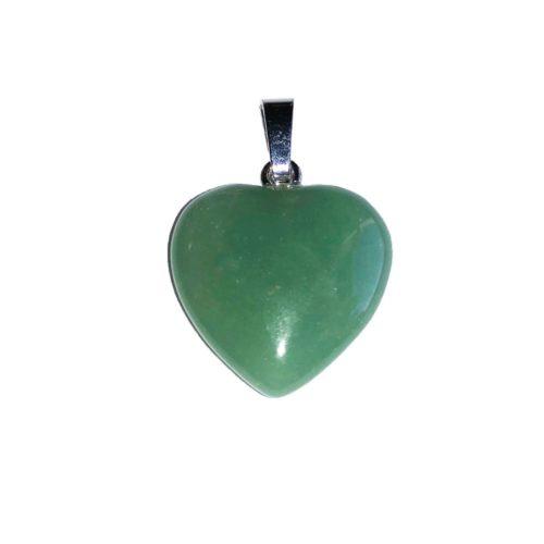 Aventurine Pendant - Small Heart