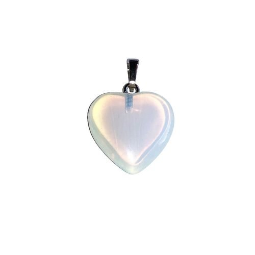 Opal Pendant - Small Heart