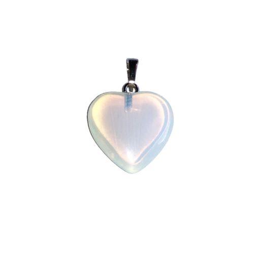 Opal Pendant - Small Heart
