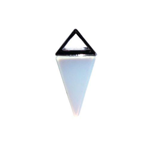 Opal Pendant - Silver Pyramid