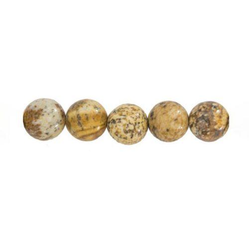 perle ronde jaspe paysage 6mm