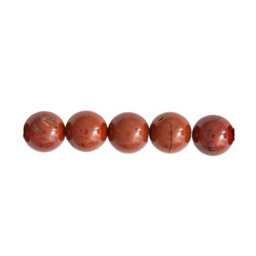 perle ronde jaspe rouge 6mm