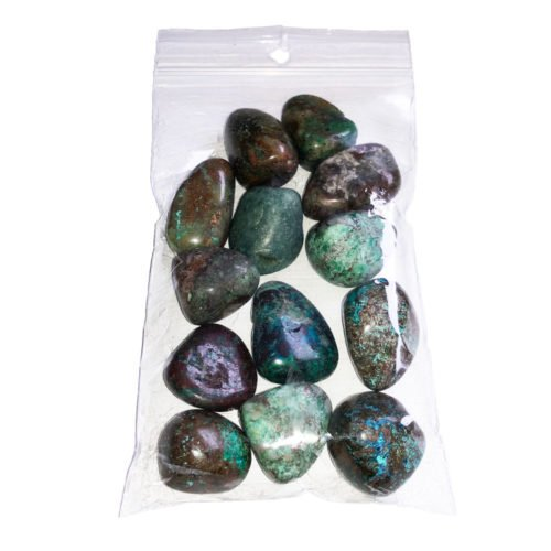 pierres roulées chrysocolle turquoise 250grs