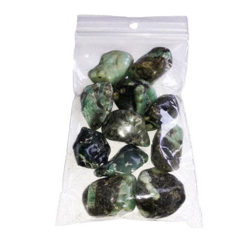 lot pierres roulées émeraude 250grs
