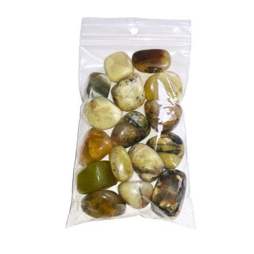 sachet pierres roulées opale jaune 250grs