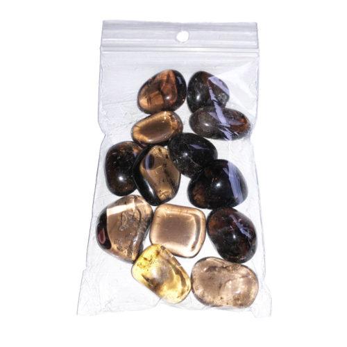 sachet de pierres roulées quartz fumé 250grs