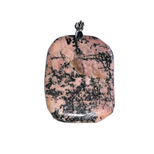 Rhodonite Pendant - Flat Stone