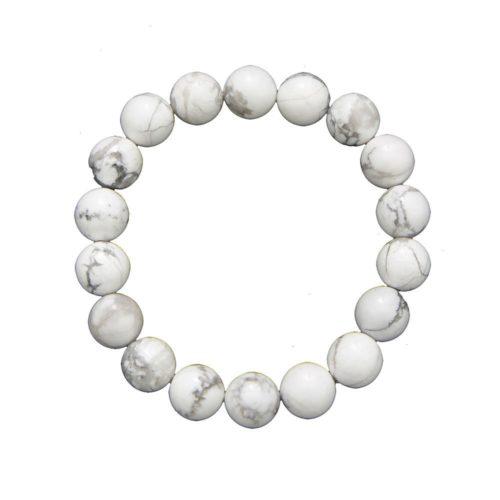 Howlite Bracelet - 10 mm Bead