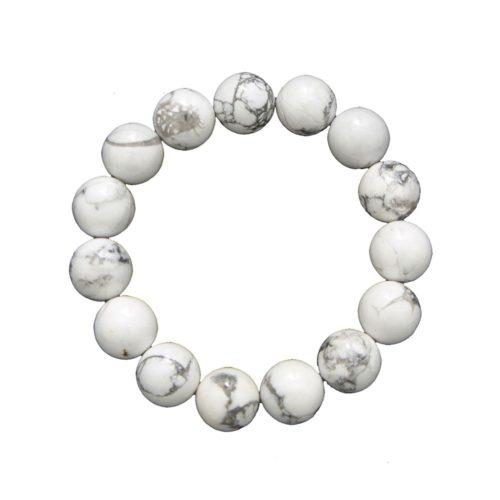 Howlite Bracelet - 12 mm Bead