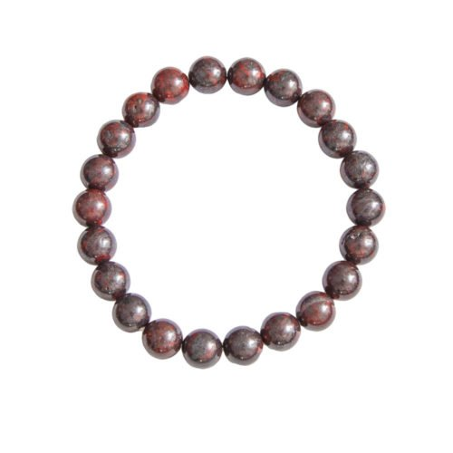 Brecciated Jasper Bracelet - 8 mm Bead