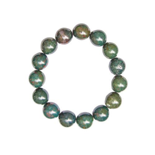Heliotrope Jasper Bracelet - 12 mm Bead