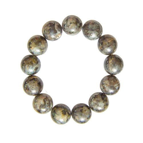 Labradorite Bracelet with Inclusions - 14 mm Bead