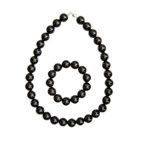 Black Agate Gift Set - 14 mm Bead
