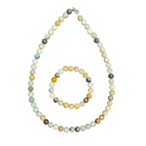 Multicoloured Amazonite Gift Set - 8 mm Bead