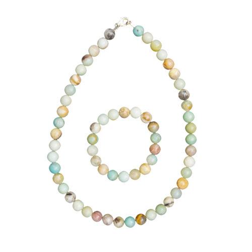 Multicoloured Amazonite Gift Set - 10 mm Bead