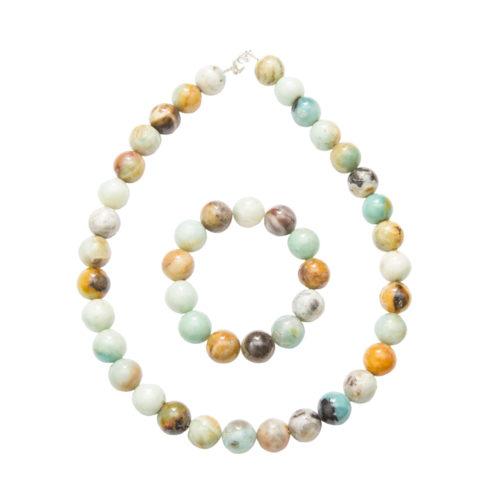 Multicoloured Amazonite Gift Set - 14 mm Bead