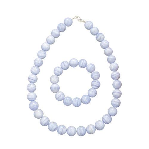 Chalcedony Gift Set - 14 mm Bead