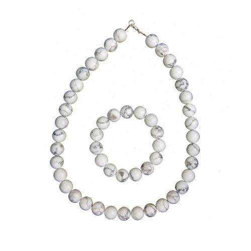 Howlite Gift Set - 12 mm Bead