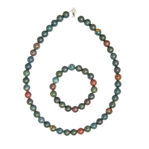 Heliotrope Jasper Gift Set - 10 mm Bead