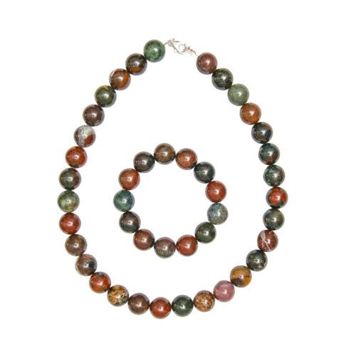 Heliotrope Jasper Gift Set - 14 mm Bead