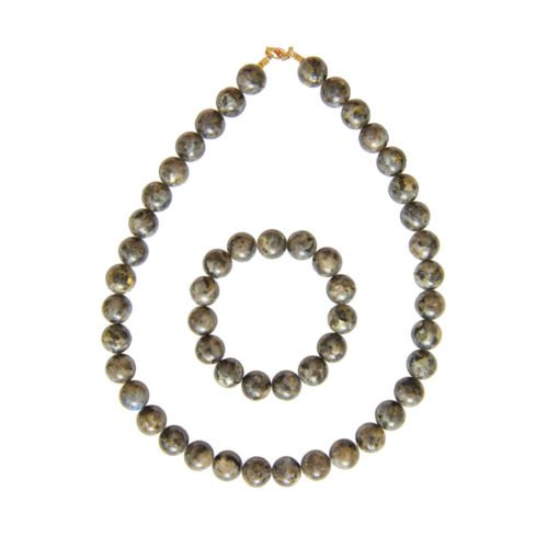 Labradorite Gift Set with Inclusions - 12 mm Bead