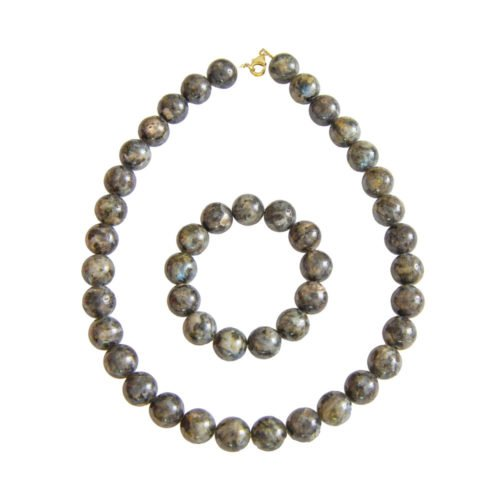 Labradorite Gift Set with Inclusions - 14 mm Bead