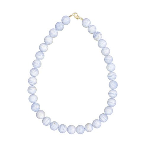 Chalcedony Necklace - 14 mm Bead