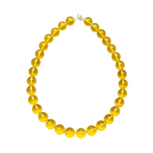 Citrine Necklace - 14 mm Bead