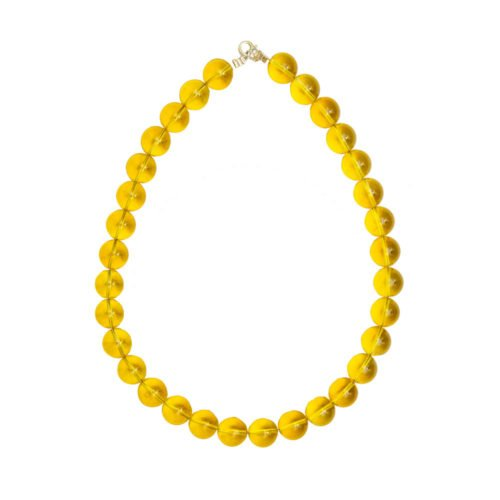 Citrine Necklace - 14 mm Bead