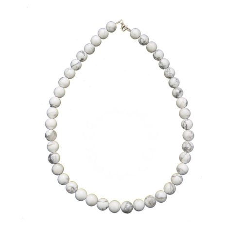 Howlite Necklace - 10 mm Bead