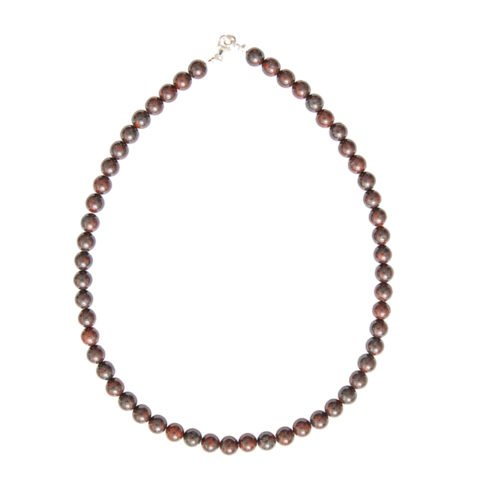 Brecciated Jasper Necklace - 8 mm Bead