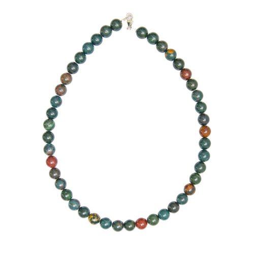 Heliotrope Jasper Necklace - 10 mm Bead
