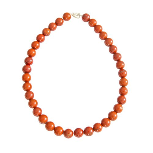 Red Jasper Necklace - 12 mm Bead
