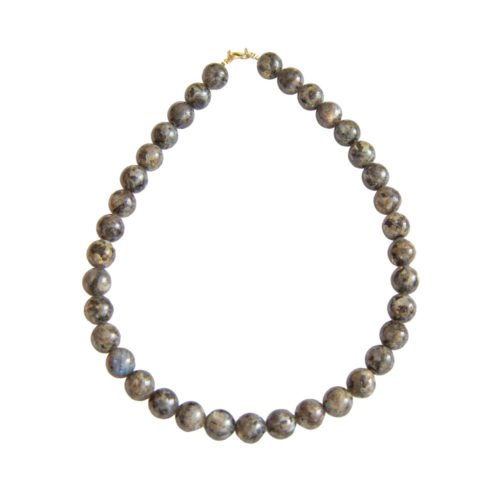 Labradorite Necklace with Inclusions - 12 mm Bead