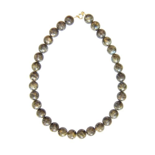 Labradorite Necklace with Inclusions - 14 mm Bead