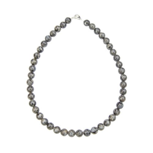 Labradorite Necklace with Inclusions - 10 mm Bead