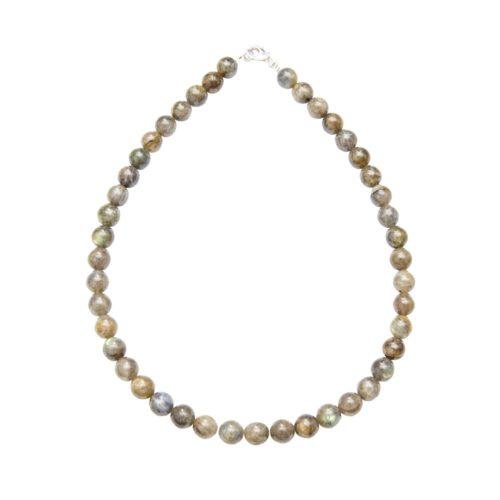 Labradorite Necklace - 10 mm Bead
