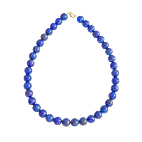 Lapis Lazuli Necklace - 12 mm Bead