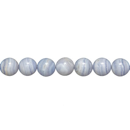 Chalcedony Line - 14 mm Bead