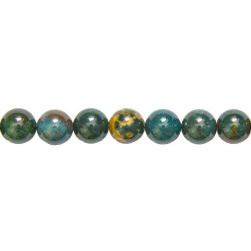 Heliotrope Jasper Line - 14 mm Bead